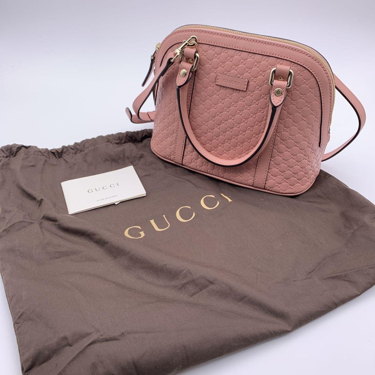 Gucci Mint Pink Micro Guccissima Leather Dome Bag Satchel 2