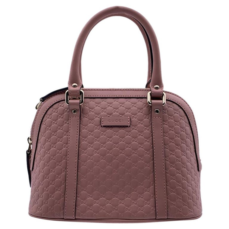 Gucci Mint Pink Micro Guccissima Leather Dome Bag Satchel