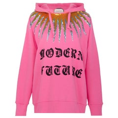 Gucci Modern Future Sequin-Embellished Cotton-Jersey Hooded Sweater