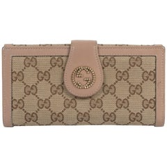 Gucci Monogram Canvas Dusty Pink Wallet