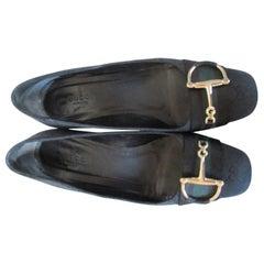 GUCCI monogram canvas horsebit GG shoes