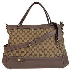 Gucci Monogram Canvas Large Mayfair Tote Bag with Strap