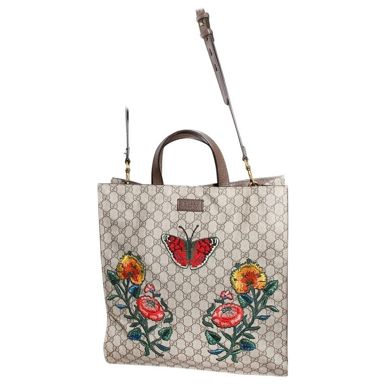 Gucci Monogram Floral Canvas Tote For Sale