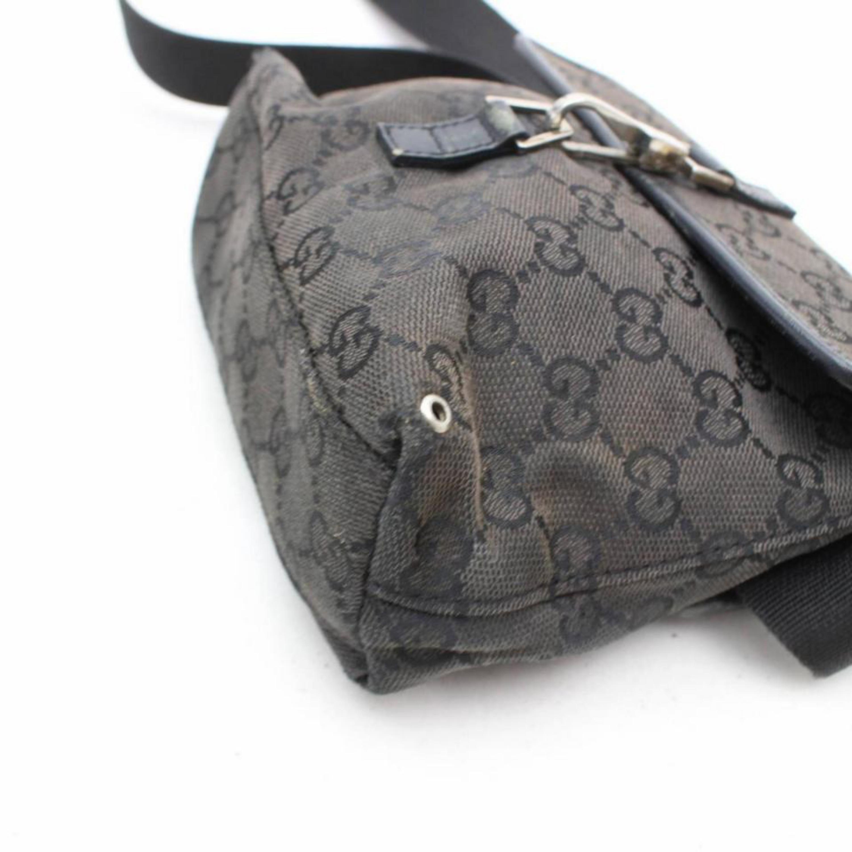 3ea3c06a1a1 Gucci Monogram Gg Belt Fanny Pack Waist Pouch 869344 Black Canvas Shoulder  Bag For Sale at 1stdibs