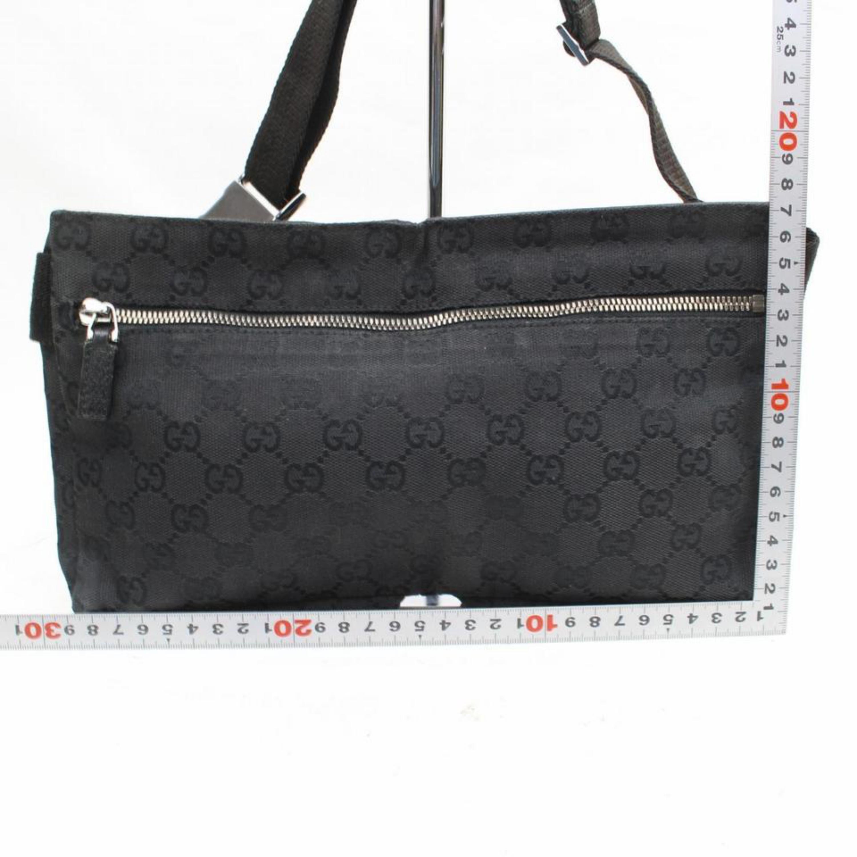 62b660779b0 Gucci Monogram Gg Belt Fanny Pack Waist Pouch 869604 Black Canvas Cross  Body Bag For Sale at 1stdibs