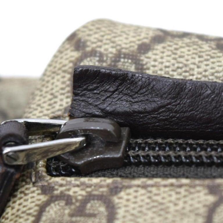 Gucci Monogram Gg Supreme Fanny Pack Waist Pouch 228795 Cross Body Bag