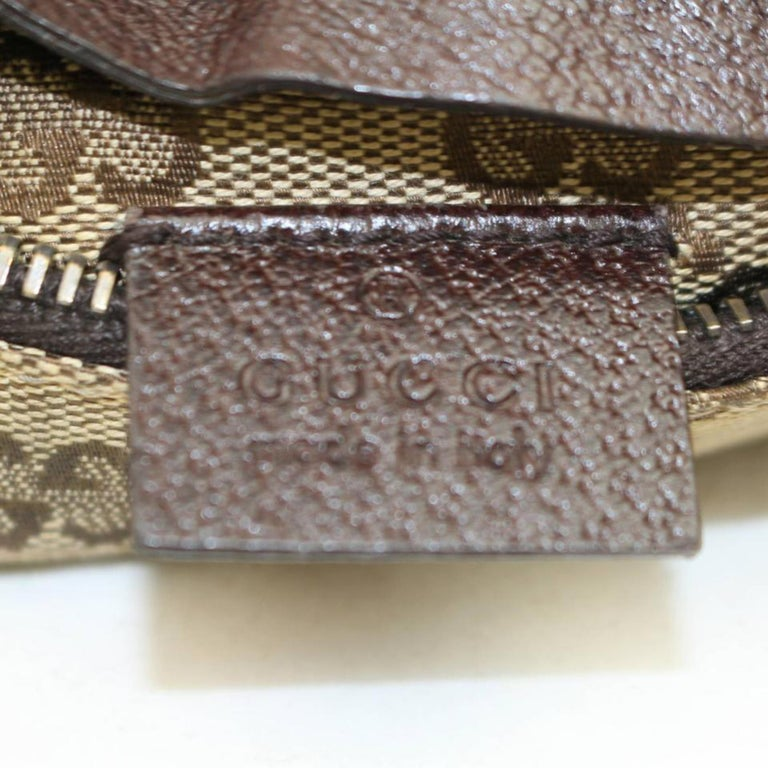 aa176ea494cf Gucci Monogram Gg Waist Pouch Fanny Pack 868298 Brown Canvas Cross Body Bag  For Sale 1