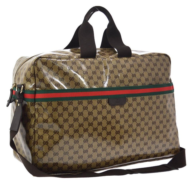 2597775ea70995 Gucci Monogram Men's Women's Travel Duffle Carryall Weekender Shoulder Tote  Bag In Excellent Condition For Sale