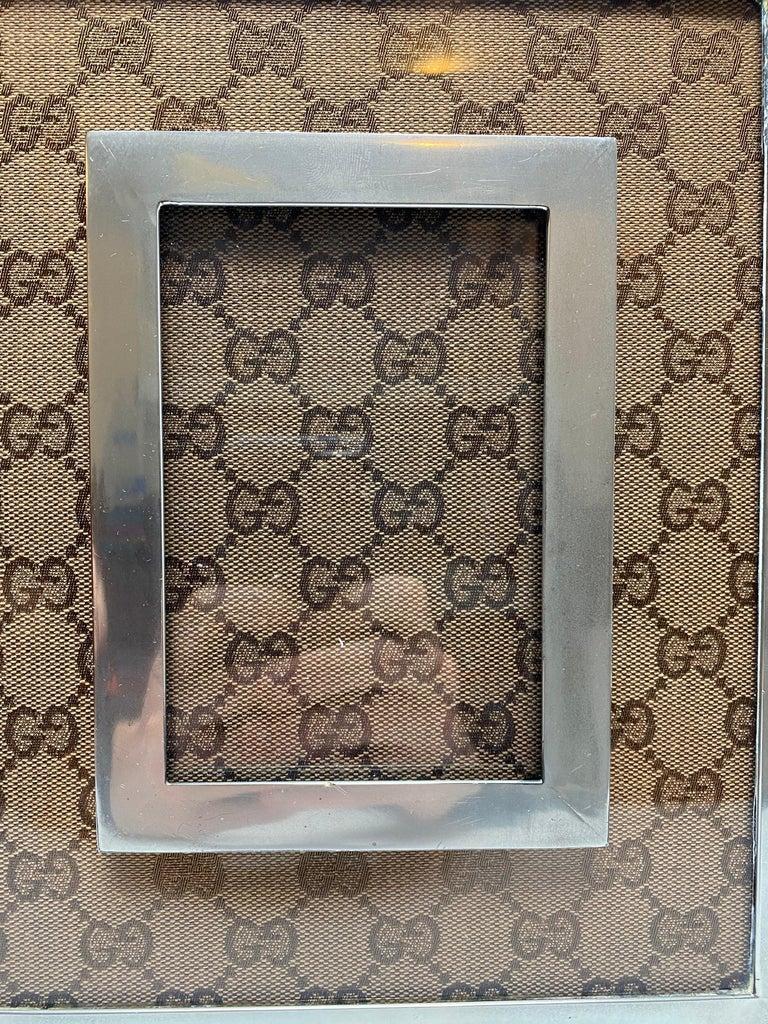 Canvas Gucci Monogram Picture Frame For Sale