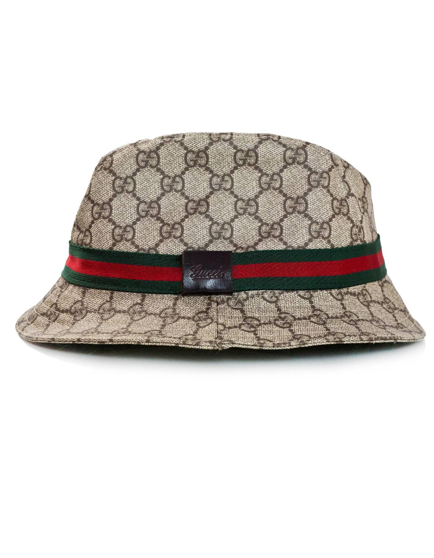 Gucci Monogram Supreme Bucket Hat Sz S For Sale at 1stdibs eafafd119f4