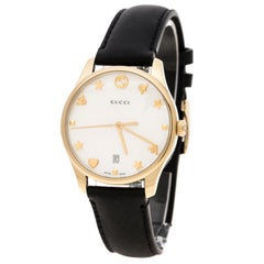 Gucci Mother of Pearl Gold Plated Stainless Steel G-Timelss 126.4 Women's Wristw