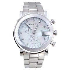 Gucci Mother of Pearl Stainless Steel Diamond G-Chrono Women's Wristwatch 44 mm