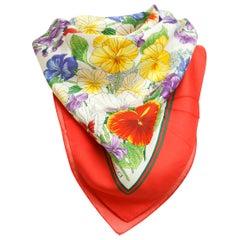 Gucci Mulitcolor Floral Silk Scarf