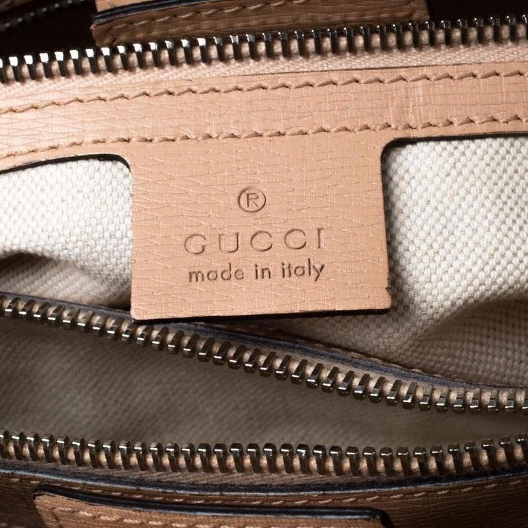 Gucci Multicolor Bloom's Printed Leather Bamboo Shopper Tote 2