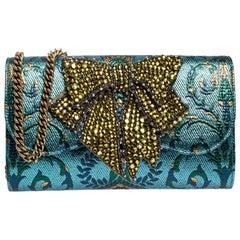 Gucci Multicolor Brocade Fabric Embellished Broadway Shoulder Bag