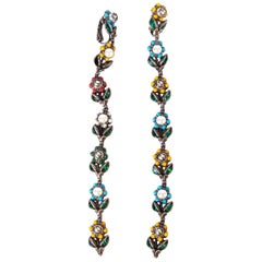 GUCCI multicolor DAISY Floral Drop Earrings