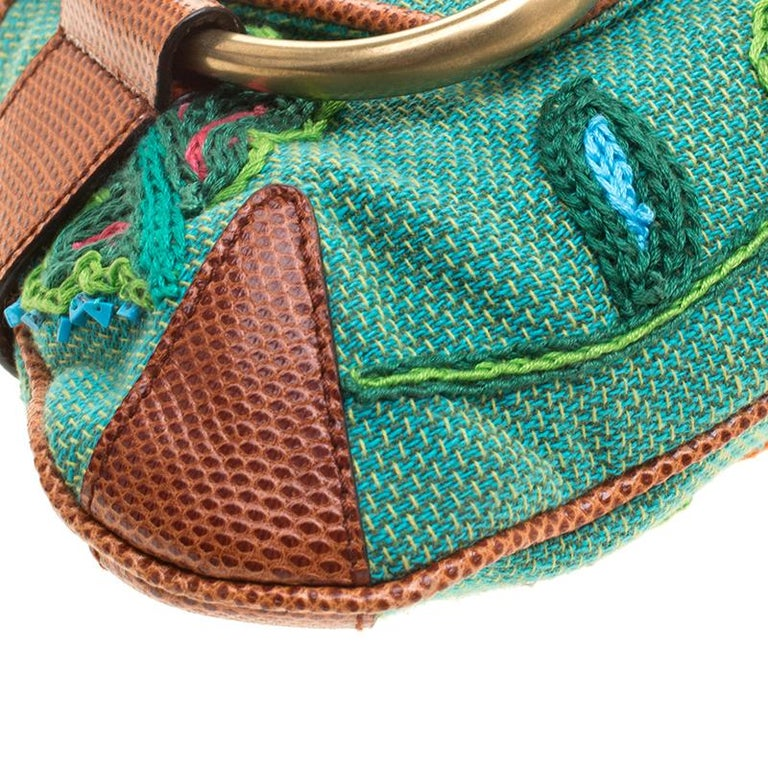 Gucci Multicolor Fabric Limited Edition Tom Ford Horsebit Chain Clutch For Sale 5