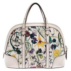 Gucci Multicolor Floral Print Leather Nice Satchel