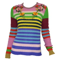 Gucci MultiColor Knit Embroidered Sweater