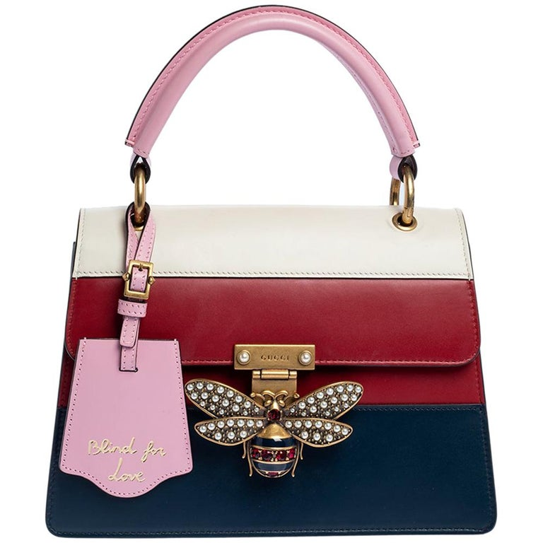Gucci Multicolor Leather Small Queen Margaret Top Handle Bag For Sale