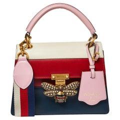 Gucci Multicolor Leather Small Queen Margaret Top Handle Bag