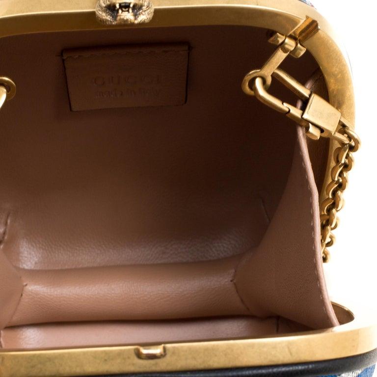 Gucci Multicolor Metallic Brocade Broadway Faux Pearl Minaudiere Clutch For Sale 1