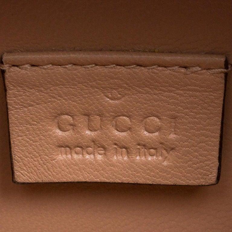 Gucci Multicolor Metallic Brocade Broadway Faux Pearl Minaudiere Clutch For Sale 2
