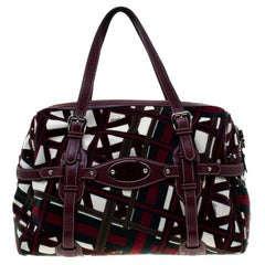 Gucci Multicolor Velvet and Leather Large 85th Anniversary Satchel