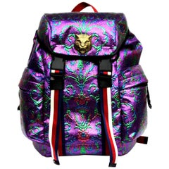 Gucci Multicolor waterproof brocade fabric Backpack