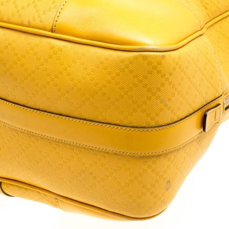 ed280c36c53c Gucci Mustard Diamante Leather Medium Duffle Bag For Sale at 1stdibs