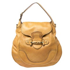 Gucci Mustard Leather Large New Pelham Horsebit Shoulder Bag