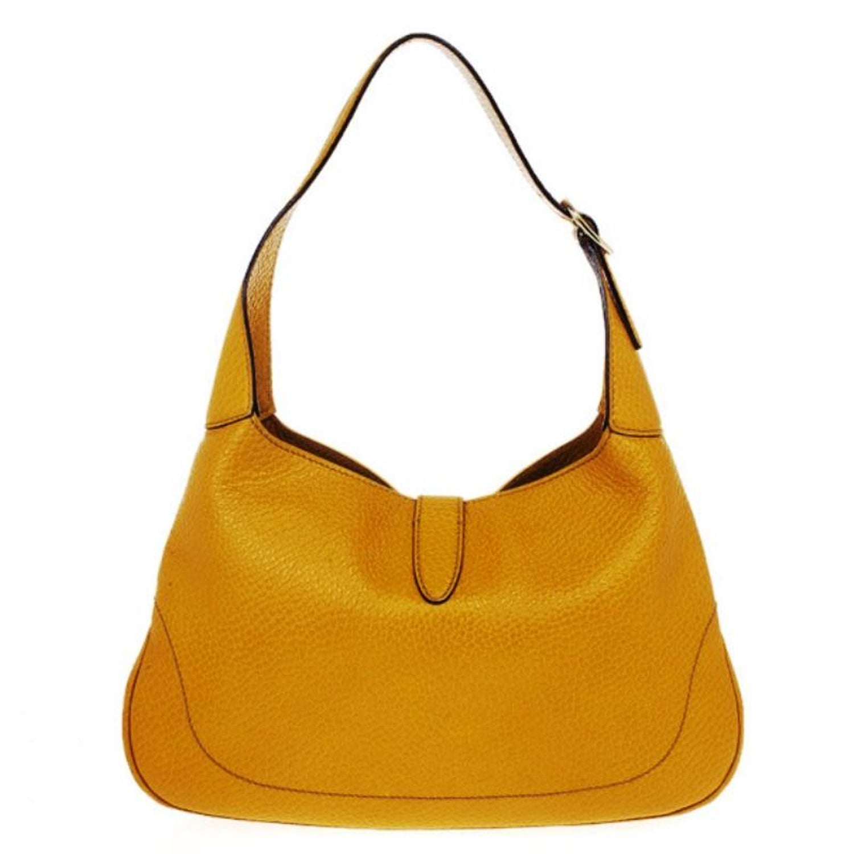 be291bb565c Gucci Mustard Medium Jackie O Shoulder Bag For Sale at 1stdibs