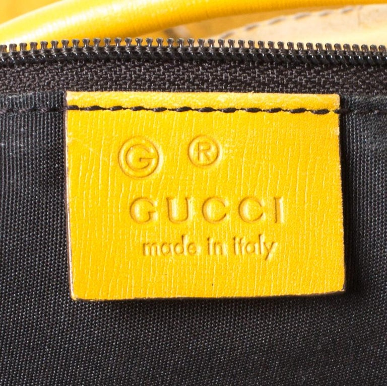Women's Gucci Mustard Suede and Leather Drawstring Hobo For Sale