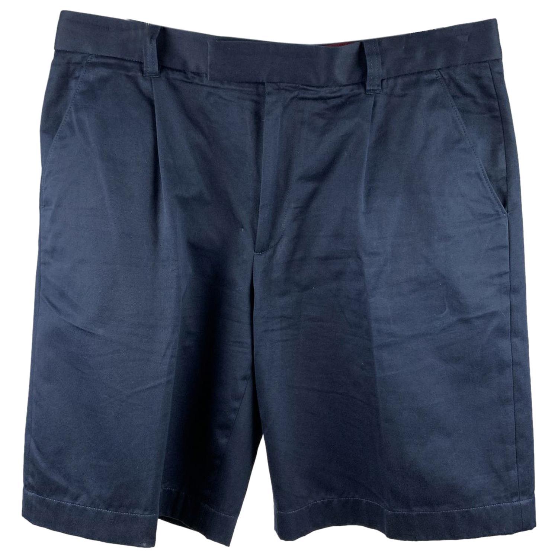 Gucci Navy Blue Cotton Men Shorts Pants Bermuda Trousers Size 52 IT