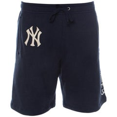 Gucci Navy Blue Cotton NY Yankees Patch Shorts S