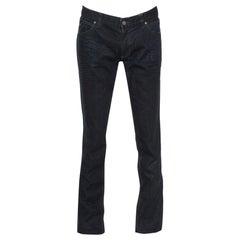 Gucci Navy Blue Dark Wash Denim Straight Fit Jeans M