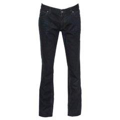 Gucci Navy Blue Dark Wash Denim Straight Fit Jeans XL