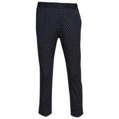 Gucci Navy Blue G Frames Jersey Track Pants M