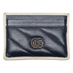 Gucci Navy Quilted Leather Card Holder
