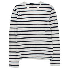 Gucci Navy & White Striped Long Sleeve Top SIZE L