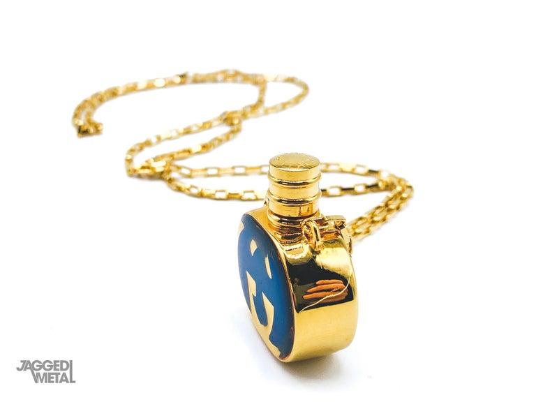 GUCCI Necklace Vintage 1970s Perfume Bottle Pendant 5