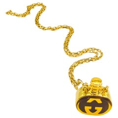 GUCCI Necklace Vintage 1970s Perfume Bottle Pendant
