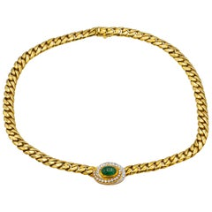 Gucci Necklace With 5 Carat Emerald and 1 Carat Of Diamonds
