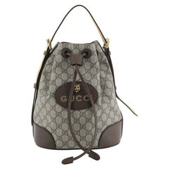 Gucci Neo Vintage Drawstring Bucket Backpack GG Coated Canvas Mini