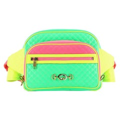 Gucci Neon Front Pocket Waist Bag Quilted Leather Large