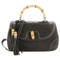 Gucci New Bamboo Top Handle Bag Leather Large