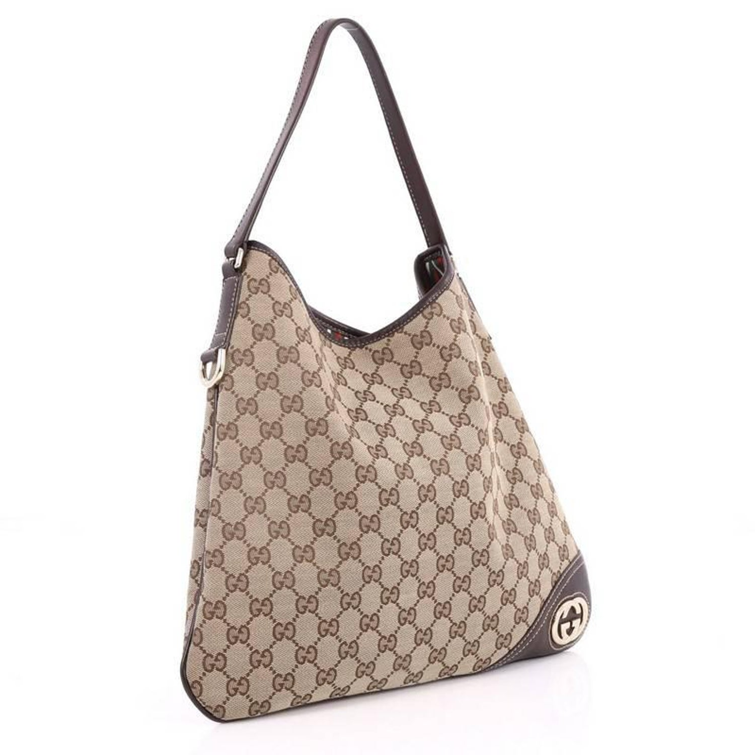 020c4367faae Gucci New Britt Hobo GG Canvas Medium at 1stdibs
