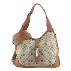 Gucci New Jackie Bag Diamante Canvas Medium
