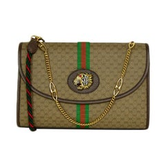 Gucci NEW Monogram Web Medium Rajah Shoulder/Crossbody Bag