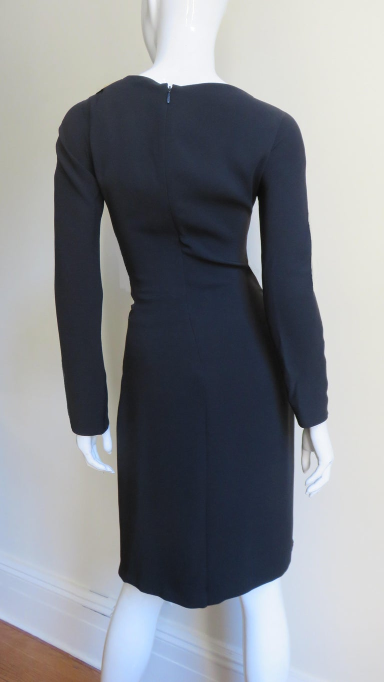 Gucci New Silk Dress with Cut outs and Hardware For Sale 10